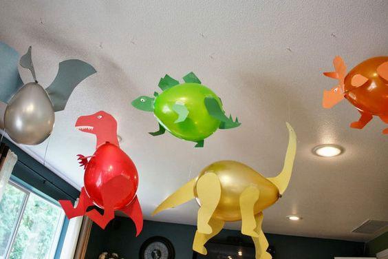 динозавры из шаров