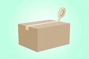 Заклеиваем коробку