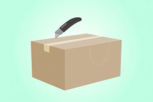 Разрезать коробку