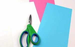 Цветная бумага для изготовления единорога