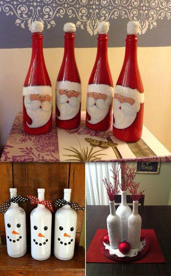 Поделки из бутылок на Новый год