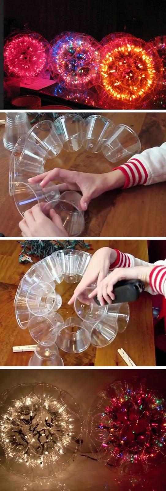 Светящиеся шары из пластиковых стаканчиков